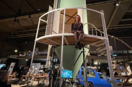 Slapen in een silo, Stella's project trekt aandacht op Dutch Design Week