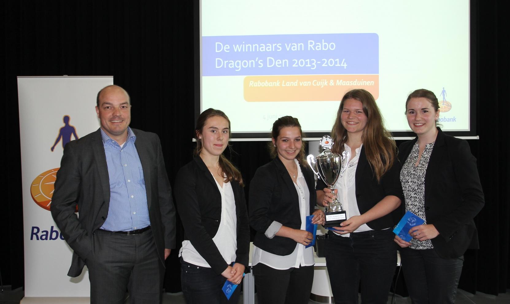 beste ondernemingsplan Elzendaalcollege wint prijs beste ondernemingsplan, door Rabobank  beste ondernemingsplan
