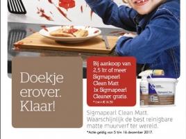 Actie Sigmapearl Clean Matt