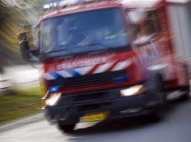 File door autobrand op A73 tussen Dukenburg en Haps