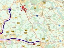 Ongeluk op de A73, snelweg richting Nijmegen dicht bij Haps