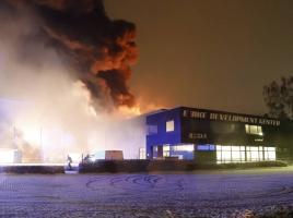 Uitslaande brand bij bedrijf in Cuijk